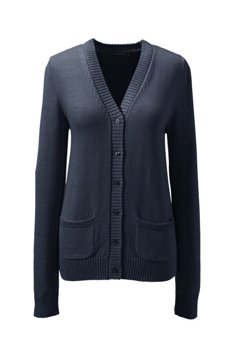 School Uniform Women's Drifter Button Front Cardigan