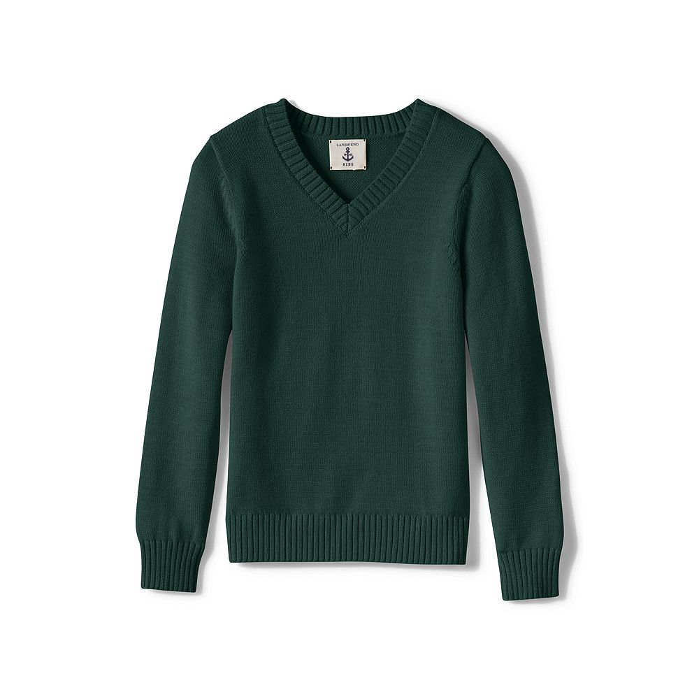 Lands' End School Uniform Girls' V-neck Drifter Sweater at Sears.com