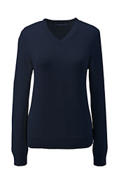 School Uniform Girls' V-neck Drifter Sweater