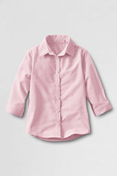 Girls' 3/4-sleeve Oxford Shirt