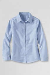 NQP Girls' Plus Long Sleeve Oxford Shirt
