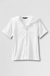 Girls' Short Sleeve Middy Blouse