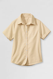 Girls' Short Sleeve Oxford Shirt