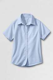 Juniors' Short Sleeve Oxford Shirt