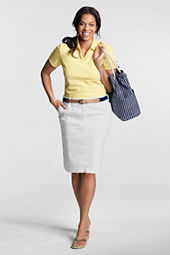 Women's Plus Size Comfort Waist Colored Skirt
