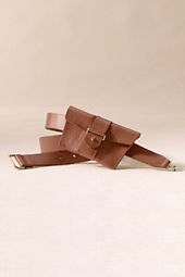 Women's Leather Pouch Belt