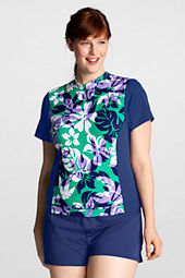 Women's AquaTerra Short Sleeve Floral Colorblock Rash Guard