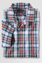Men's Short Sleeve Tartan Camp Shirt
