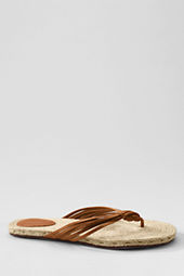 Women's Schofield Leather Strappy Flip Flop Espadrilles