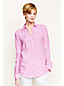 Women's Regular  Long Sleeve Striped Linen Smocked Shirt