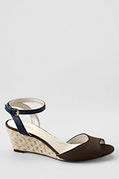 Women's Hadley Linen Mid Wedge Quarter Strap Sandals
