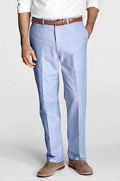 Men's Plain Front Traditional Fit Oxford Trousers