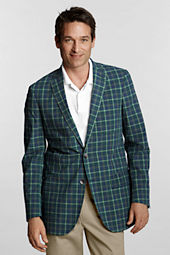 Men's Tailored Fit 2-button Flap Poplin Yarn Dye Jacket