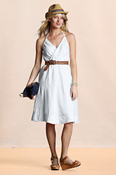Canvas Women's Flirty Linen Halter Dress