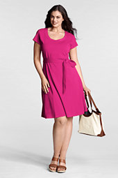 Women's Plus Trapunto Scoopneck Dress