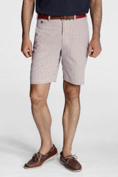 "Men's 9"" Plain Front Seersucker Shorts"