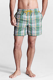"Men's 6"" Plaid Volley Swim Shorts"