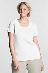Women's Plus Size Short Sleeve Lightweight Jersey Gathered Scoop Top