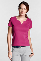 Women's Rib Notch Neck Top