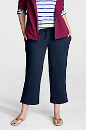 Women's Plus Size Terry Crop Pants