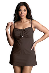 Women's Plus Size Ocean Beach Adjustable Scoopneck Swimdress