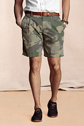 Men's Pleated Camo Shorts