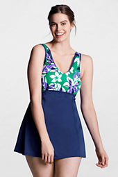 Women's Plus Size AquaTerra V-neck Swimdress
