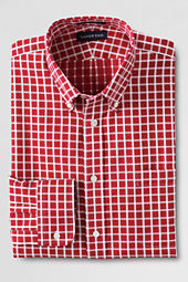 Men's Tailored Fit No Iron Textured Pattern Dress Shirt