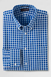 Men's Traditional Fit No Iron Textured Pattern Dress Shirt