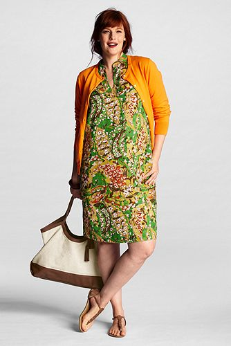 Women%27s+Plus+Size+Pattern+Linen+Caftan+Shift+Dress