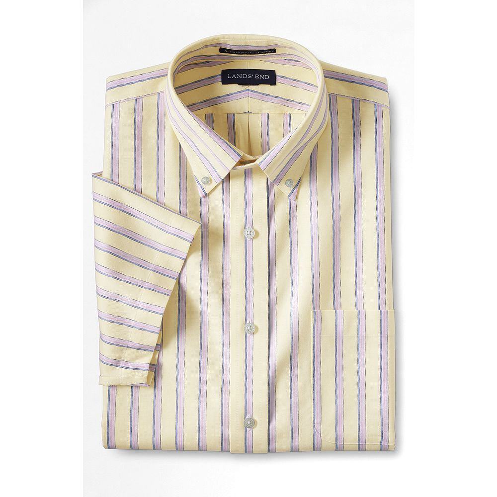 Lands' End Men's Big & Tall Traditional Fit Short Sleeve Pattern No Iron Oxford Dress Shirt at Sears.com