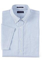 Men's Short Sleeve Traditional Fit Pattern No Iron Oxford Shirt