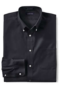 Men's Tall Long Sleeve Buttondown No Iron Broadcloth Shirt, Front