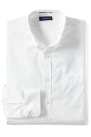 School Uniform Men's Big and Tall Long Sleeve Buttondown No Iron Broadcloth Shirt