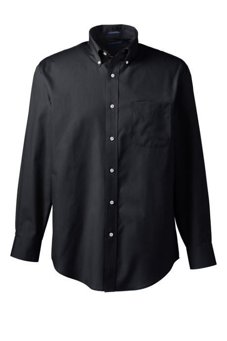 Men's Long Sleeve Buttondown Solid No Iron Broadcloth Shirt