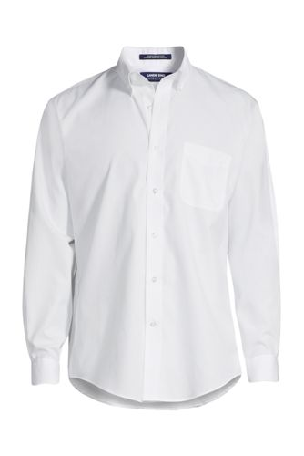 School Uniform Men's Tall Long Sleeve Buttondown No Iron Broadcloth Shirt