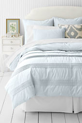 School Uniform 200-count Solid Newport Pintuck Duvet Cover or Sham