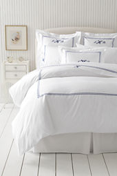 Tailored Hotel Sateen Embroidered Dot Duvet Cover or Sham
