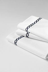 Tailored Hotel Sateen Embroidered Rope Sheet Set or Pillowcase
