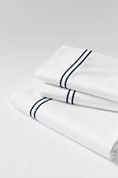 Tailored Hotel Sateen Embroidered Dot Sheet Set or Pillowcase