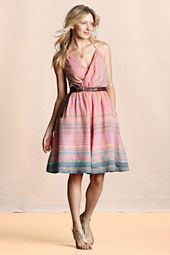 Canvas Women's Linen Striped Halter Dress