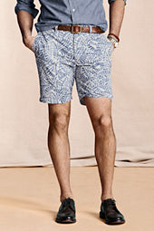 Men's Leaf Print Chino Shorts