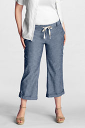 Women's Plus Size Original Chambray Crop Pants
