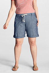 "Women's Plus Size Original 10"" Chambray Shorts"
