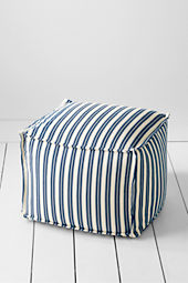Four Square Boating Stripe Ottoman