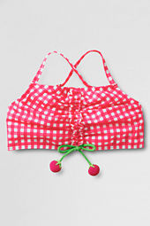 Girls' Shirred Front Fruit Bikini Top
