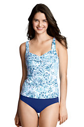Women's Beach Living Palm Print Princess Tankini Top