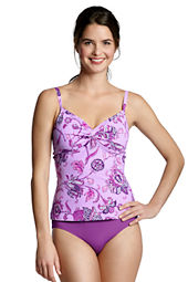 Women's Beach Living Floral Twist Tankini Top
