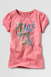 Little Girls' Short Sleeve Peace Graphic T-shirt
