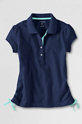 Girls' Side-tie Polo Shirt